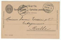 Suisse // Schweiz // Switzerland  // Entier Postaux // Entier Postal Au Départ De Chaux-de-Fonds 18.12.1899 - Entiers Postaux