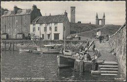 The Harbour, St Andrews, Fife, 1958 - Valentine's Silveresque Postcard - Fife