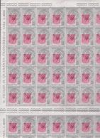 1959 Italia Repubblica GIORNATA DEL FRANCOBOLLO 80 Valori In Doppio Foglio Di 40 MNH** Double Sheet - Fogli Completi