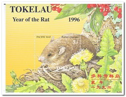 Tokelau 1996, Postfris MNH, Year Of The Rat, Flowers - Tokelau