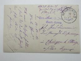 1917 , NEUBURG , Truppenstempel Auf Feldpostkarte - Duitsland