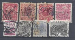 Österreich Autriche Austria Oostenrijk Perforiert Perforés Perfins Perforé Perfin Used 1539 - Abarten & Kuriositäten
