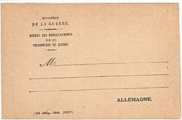 FRANCHISE MILITAIRE - OFFICIELLE - PRISONNIERS - CORRESPONDANCE MILITAIRE - RARE - CPFM - SW N°106 - WW1 - - Cartes De Franchise Militaire