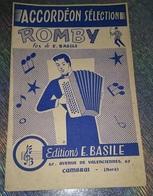 RARE PARTITION MUSIQUE ACCORDEON ROMBY FOX EDITIONS E. BASILE AVENUE DE VALENCIENNES CAMBRAI NORD (59) - Autres