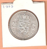 NEDERLAND 2 1/2 GULDEN 1959 ZILVER JULIANA PR - [ 3] 1815-… : Royaume Des Pays-Bas