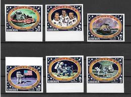 Liberia Série Non Dentelé/imperf/ND Espace ** - Space