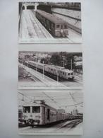 """SNCF Banlieue Paris : Rames """"standard"""", Z-5300 Et Z-6300 - LOT De 3 CPM Editions Atlas - Détails  Sur Les Scans - Trains"""