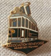 TRANSPORTS PUBLICS - GENEVE - TRAMWAY - TRAM 12 VERT - ASSOCITATION GENEVOISE MUSEE DES TRAMWAY   -     (ROSE) - Transportation