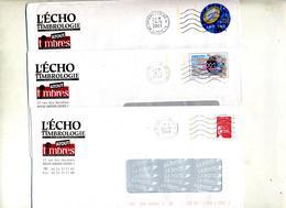 Lot 5 Pap Entete Echo Timbrologie - Entiers Postaux