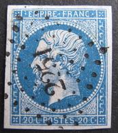 LOT R1752/154 - NAPOLEON III N°14A - PC 2251 : NEUILLY-SAINT-FRONT (Aisne) ☛ INDICE 5 - 1853-1860 Napoleon III