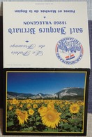 Petit Calendrier Poche 1992 Paysage Fleur Tournesol  - Villegenon Cher - Calendars