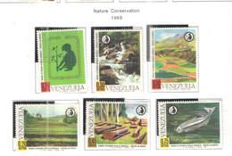 Venezuela PO 1968 Conserv.Natura Scott.924/929+ See Scans   On Scott.Page - Venezuela