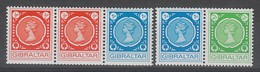 SERIE NEUVE DE GIBRALTAR - TIMBRES POUR MACHINES DISTRIBUTRICES N° Y&T 271 A 273 - Gibraltar
