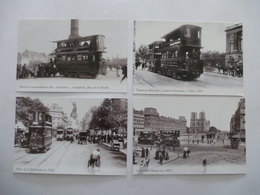 PARIS TRAMWAY Entre 1900 Et 1913 Bien Avant La RATP - LOT 4 CPM  - Editions Atlas - Détails Voir Scans - Tramways