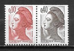 Année 1982 _ N°(2179a** La Paire 0.10+0.40) +2188a**+2191**+2192** - France