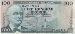 (B0009) ICELAND, L. 1961. 100 Kronur. P-44a. VF-F - Iceland