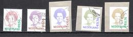 Nederland 2002, 2003, 2005, 2009, Nvph Nr 2039 + 2137 + 2317+ 2620 + 2318  Koningin Beatrix  Gestempeld - Periode 1980-... (Beatrix)