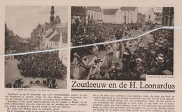 ZOUTLEEUW...1934...ZOUTLEEUW EN DE H. LEONARDUS - Vecchi Documenti