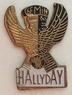 JOHNNY HALLYDAY - GEMIN - HALLYDAY EN BLANC -       ROSE) - Celebrities