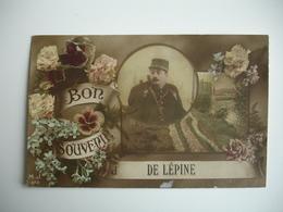 Bon Souvenir De L Epine Lepine Carte Colorisee Militaire - L'Epine