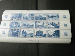 BLOC AIDE AUX ARTISTES 1942 Bleu - Blocs & Feuillets