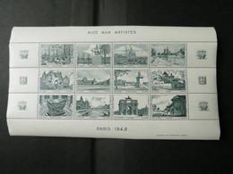 BLOC AIDE AUX ARTISTES 1942 Vert - Blocs & Feuillets