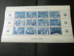 BLOC AIDE AUX INTELLECTUELS 1943 Bleu - Blocs & Feuillets
