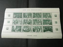 BLOC AIDE AUX INTELLECTUELS 1943 VERT - Blocs & Feuillets
