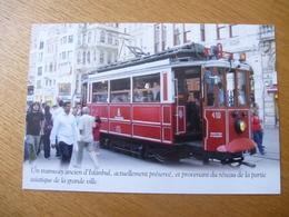 ISTAMBUL : Tramway Historique (1911) Remis En Service Pour Le Tourisme - Editions Atlas - Détails Voir Scans - Tramways