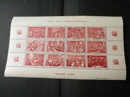 BLOC AIDE AUX INTELLECTUELS 1943 ROUGE - Blocs & Feuillets