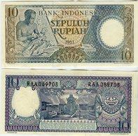 Indonésie Indonesia 10 Sen 1963 P89 - Indonésie