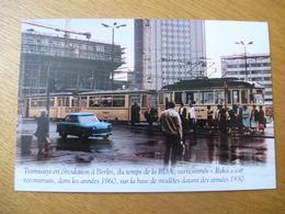 """BERLIN Secteur Est (RDA) - Rame Tramway """"Reko"""" Et Trabant - Editions Atlas - Détails Voir Scans - Tramways"""