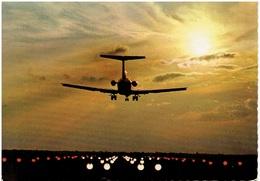Flughafen München / Landende Boeing 727 In Der Dämmerung - Aerodrome