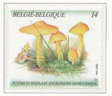 D- [153141] **/Mnh-[2421] Belgique 1991, Végétaux, Champignon, Hygrophore Jaune Conique, Du Carnet 21, SNC - Champignons