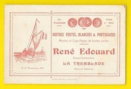 René EDOUARD La Tremblade (17) Huitres Ostreiculteur Carte De Visite - Visiting Cards