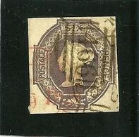 VICTORIA 6p VIOLET EN RELIEF 4 BELLES MARGES COTE 1000 EUROS - 1840-1901 (Viktoria)