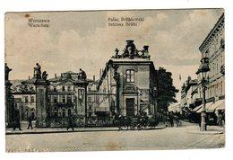CPA Varsovie Warszawa Warschau Pologne Poland Palac Brühlowski Schloss Brühi éditeur V W N°214 - Pologne