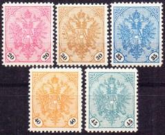 BOSNIA  & H. - BOSNA - DOPPELADLER - Mi.24/28 **MNH (26 MLH) - 1901 - Bosnia Erzegovina