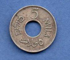 Palestine  - 5 Mils 1927   - Km # 3 -  état  TTB - Colonies