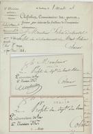 Strasbourg 1808 Chef De Bien Chefdebien L'Ordonnateur De La 5e Division - Marcophilie (Lettres)