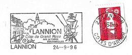 France (1996) - Lannion : Côte De Granite Rose / Pink Granite. Electronique, Atome / Atom. - Otros