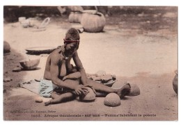 Afrique Occidentale - Haut Niger - Femme Fabricant La Porterie - Nu Nude - édit. Fortier 1053 + Verso - Niger