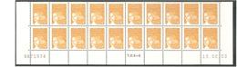 LUQUET - Bas De Feuille X 20. Neuf.  N° 3443 - 0,01 Euro; Jaune -  Légende RF. 1 Barre PHO. Daté Du 19.02.03. > TB. - 1997-04 Marianne Du 14 Juillet