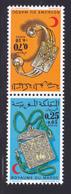 MAROC N°  683A ** MNH Neufs Sans Charnière, TB (D6779) Paire Tête Bêche, Croissant Rouge Marocain - Morocco (1956-...)