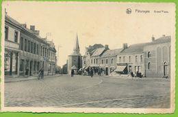 PATURAGES - Grand'Place Autos Carte Circulé 1951 - Colfontaine