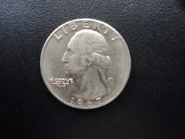 ÉTATS UNIS D'AMÉRIQUE : 1/4 DOLLAR   1967   KM 164a    SUP - Federal Issues