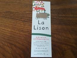 Marque Page Librairie La Lison Locomotive - Marque-Pages