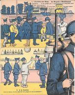 Patriotique : 2 CARTES Faisant Partie D'un PUZZLE La Vie Du Soldat - POILU -N° 2 A LA CANTINE N° 1 ARRIVEE DES BLEUS D.D - Patriotiques