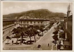 TRAPANI  VIA G. B. FARDELLA CON VEDUTA DI MONTE ERICE  1940 - Trapani