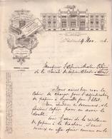 ORNE - LE THEIL , MASLES , PARIS - ENTÊTE LITHOGRAPHIE - PAPIERS A CIGARETTES - PAPIERS ABADIE - LETTRE - 1896 - Imprimerie & Papeterie